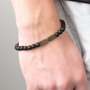 unisex lava bead bracelet